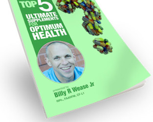 Ebook Cover Design : Top 5 Supplements for Optimum Health
