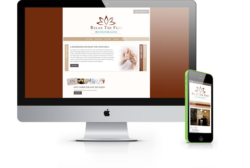 Relax the Feet Responsive Web Design
